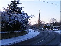 TF1505 : High Street, Glinton, in the winter by Paul Bryan
