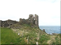NS2515 : Dunure Castle looking west by Ann Cook