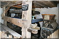 SS9943 : Dunster Watermill - hurst frame for south wheel by Chris Allen