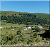 SO1506 : Sirhowy Valley buildings near Bedwellty Pits by Jaggery