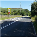 SO1506 : Slow at a bend in the A4048 near Bedwellty Pits by Jaggery