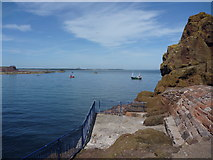 NT6779 : Coastal East Lothian : Angling Platform at The Gripes, Victoria Harbour, Dunbar by Richard West