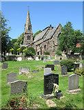 SK3340 : In Quarndon churchyard by John Sutton