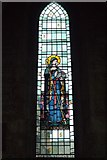 SP0937 : St Michael's Church Stained Glass Window (St Eadburgha) by David Dixon