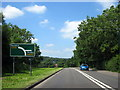 SP0663 : A448 Approaching B4092 Station Road by Roy Hughes