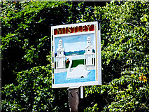TM1131 : Mistley Village Sign by Peter Pearson