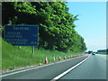 NY4347 : M6 southbound near Intack by Colin Pyle