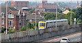 J3675 : Railway wall and fence, Sydenham, Belfast by Albert Bridge