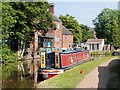SJ8934 : Trent and Mersey Canal, Narrowboat Moored at Stone by David Dixon