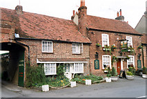 TQ0487 : Green Cottage and The Green Man Public House, Village Road, Denham by Jo Turner