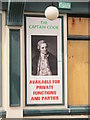 NZ4921 : Sign on The Captain Cook, Cleveland Street (A178), TS1 by Mike Quinn