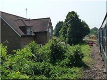 TR2849 : Stop sign, East Kent Railway, Eythorne by Christine Johnstone