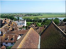 TQ9220 : View east-north-east from Rye Church tower by Christine Johnstone