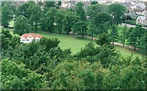 NJ0459 : A view over Grant Park from the Nelson Tower in Forres by James Denham