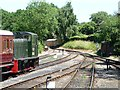 TQ8833 : Converging lines, north end, Tenterden Station by Christine Johnstone