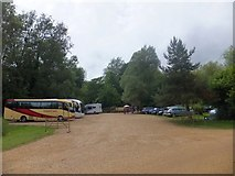 SU3226 : National Trust coach and car park at Mottisfont Abbey by David Smith