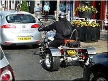 H4572 : Man on Suzuki trike, Omagh by Kenneth  Allen