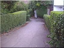 TQ2589 : Path between Hutchings Walk and Falloden Way by David Howard