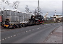 SO6302 : Low-loader parked in Station Road, Lydney by Jaggery