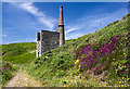 SW5927 : Wheal Prosper Mine engine house, Rinsey by Mike Searle
