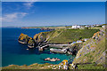 SW6617 : Mullion Cove and Harbour (1) by Mike Searle