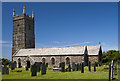 SW8769 : Church of St Uvelus, St Eval by Mike Searle