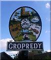 SP4646 : Cropredy village sign (2003) by Julian Osley
