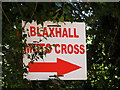 TM3657 : Blaxhall Moto Cross sign by Adrian Cable