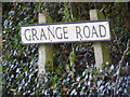 TM3186 : Grange Road sign by Adrian Cable