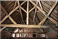 SJ8308 : Kingpost roof truss by Richard Croft