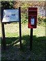 TM3183 : Information Board & St.Margarets Postbox by Adrian Cable