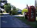 TM3183 : Telephone Box, St.Margarets Postbox & Notice Board by Adrian Cable