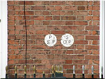 SO5139 : Parish marks, St Owen St by Keith Edkins