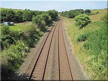 NY0637 : Dearham Bridge railway station (site), Cumbria by Nigel Thompson