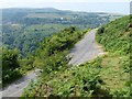 SO2112 : Minor road above the Clydach Gorge by Robin Drayton