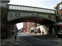 SO8455 : Foregate Street Railway Bridge by Keith Edkins