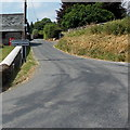 SO1141 : Eastern boundary of Llanstephan by Jaggery
