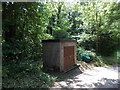 SO1241 : Utilities box and a grit bin, Llanstephan by Jaggery