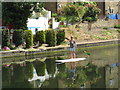 TQ2482 : Stand-up paddle boarding, Grand Union Canal by David Hawgood