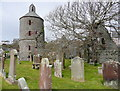 NW9954 : Old church tower, Portpatrick by Humphrey Bolton