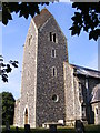 TM3186 : St.Mary's Church Tower, Flixton by Adrian Cable