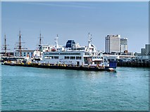 SZ6299 : Isle of Wight Ferry, Portsmouth Harbour by David Dixon