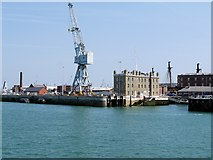 SU6200 : The historic Dockyard, Portsmouth Harbour by David Dixon