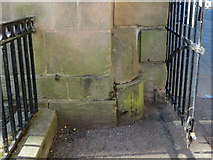 SJ4065 : Urine deflector by the Castle Square by John S Turner