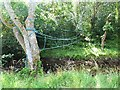 NY7690 : Rope bridge over Tarset Burn by Oliver Dixon