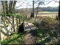 SO5820 : Footbridge over a brook, Walford by Jaggery
