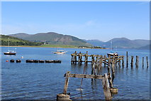 NS0767 : Remains of Old Steamer Pier, Port Bannatyne by Leslie Barrie