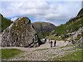 NN1655 : Pyramidal boulder in Coire Gabhail by Trevor Littlewood