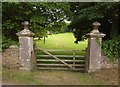 SX3964 : Gates to Stockadon Villa by Derek Harper