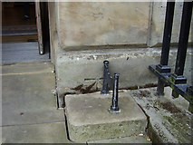 SJ9223 : Ordnance Survey bolt on Shire Hall by Shantavira